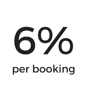6% booking fee