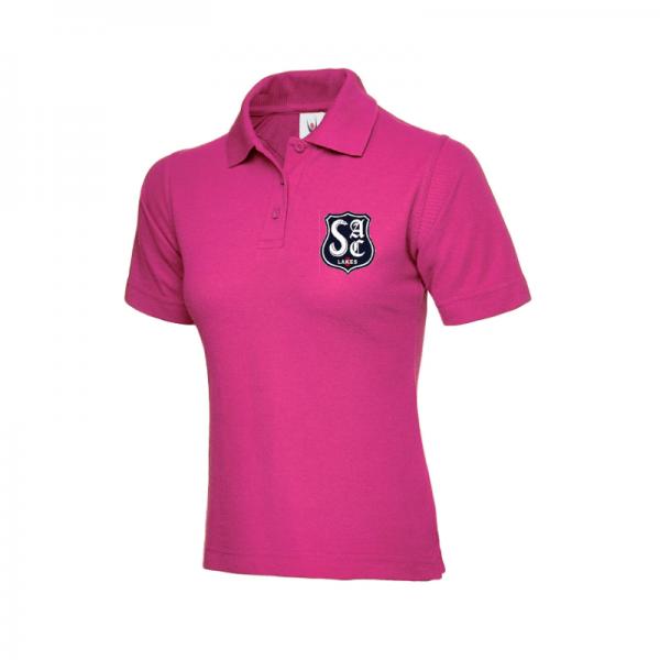 Hot Pink Ladies Polo Shirt - SAC