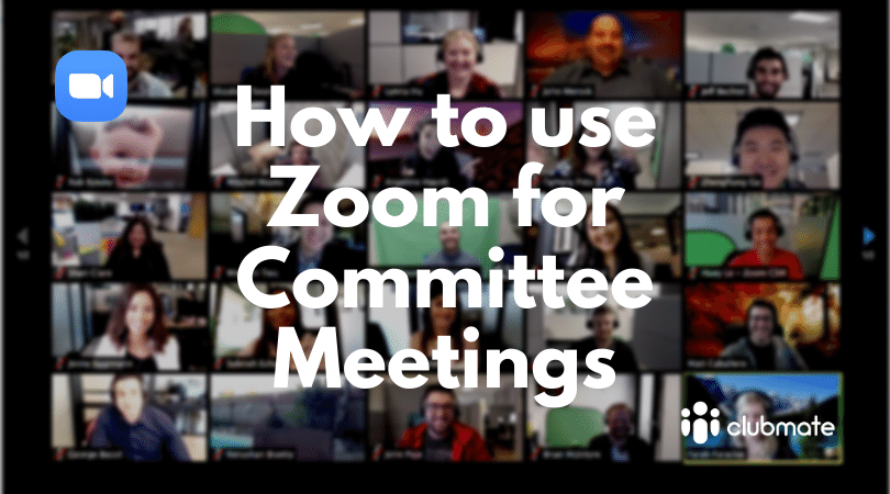 How to use Zoom for committee meetings